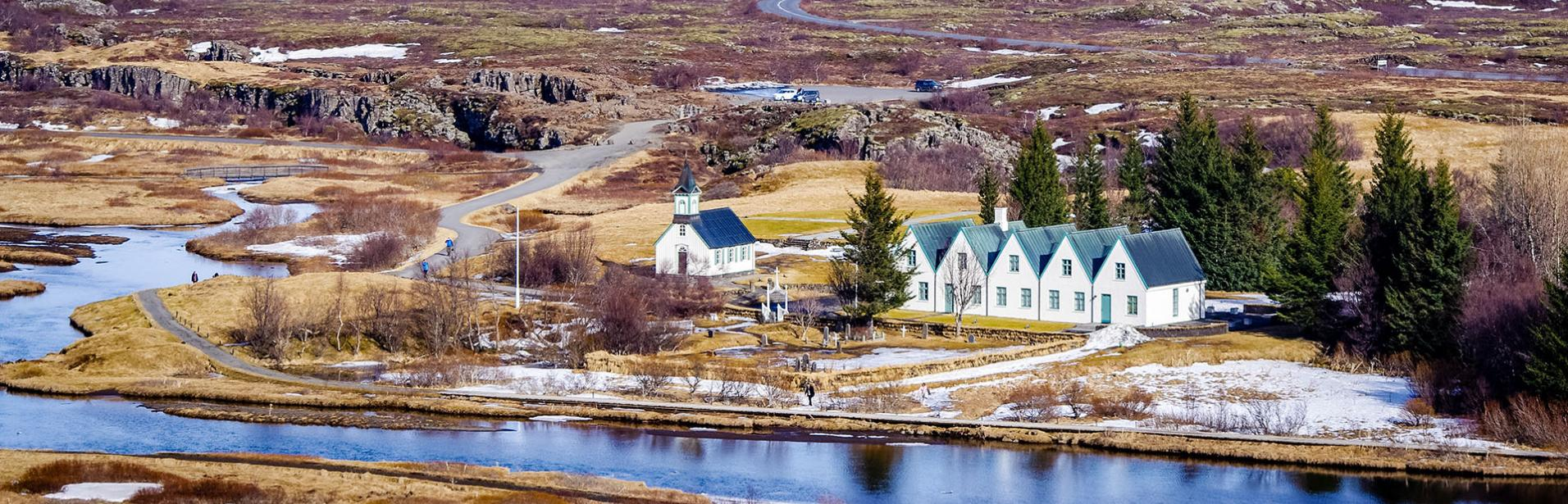 thingvellir, island, vinter